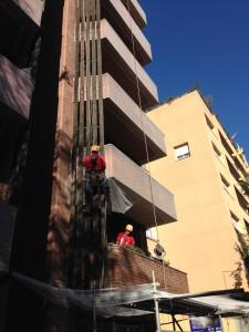xarxa proteccio façana